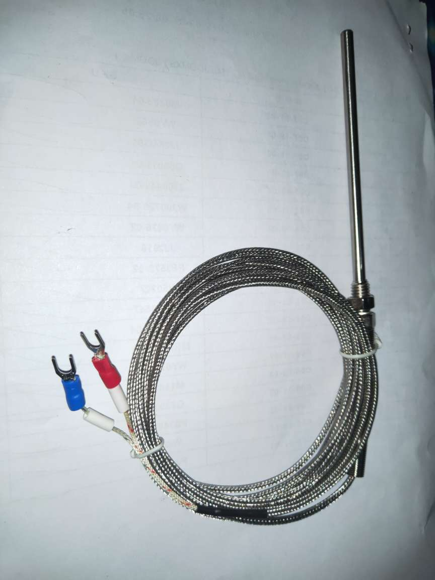 High Temperature 0-500C Thermocouple 100mm Waterproof Temperature Probe K Type