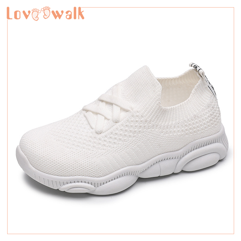 2019 Spring Autumn Shoes Kids Toddler Girl Sneakers Knitted Mesh Children Shoes Girls Elastic Kids Sport Shoes Baby Sneaker