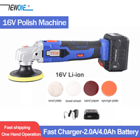 TCH 16V lithium battery portable waxing machine cordless car polisher cleaner adjustable speed polish machine