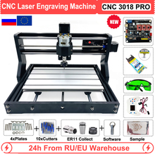 EU/RU/US CNC 3018 Pro 0.5W 2.5W 5.5W 15W Laser Engraving Router Machine for Wood Working GRBL Offline Control