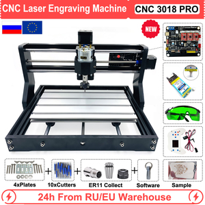Image 1 - EU/RU/US CNC 3018 Pro 0.5W 2.5W 5.5W 15W Laser Engraving Router Machine for Wood Working GRBL Offline Control