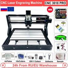 Ue/ru/eua cnc 3018 pro 0.5w 2.5 5.5 15 máquina de gravação a laser roteador para trabalhar madeira grbl controle offline