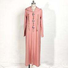 Рамадан розовый костюм накидка Восточный халат Абая Дубай Турция