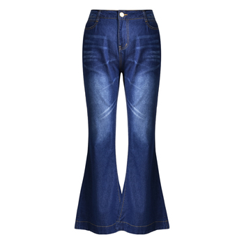 High Waist Denim Pants Mom Jeans for Women Boyfriend Flare Jeans Casual Pocket Skinny Flare Pants Elastic Vintage Long Jeans D30 high waist skinny flare jeans