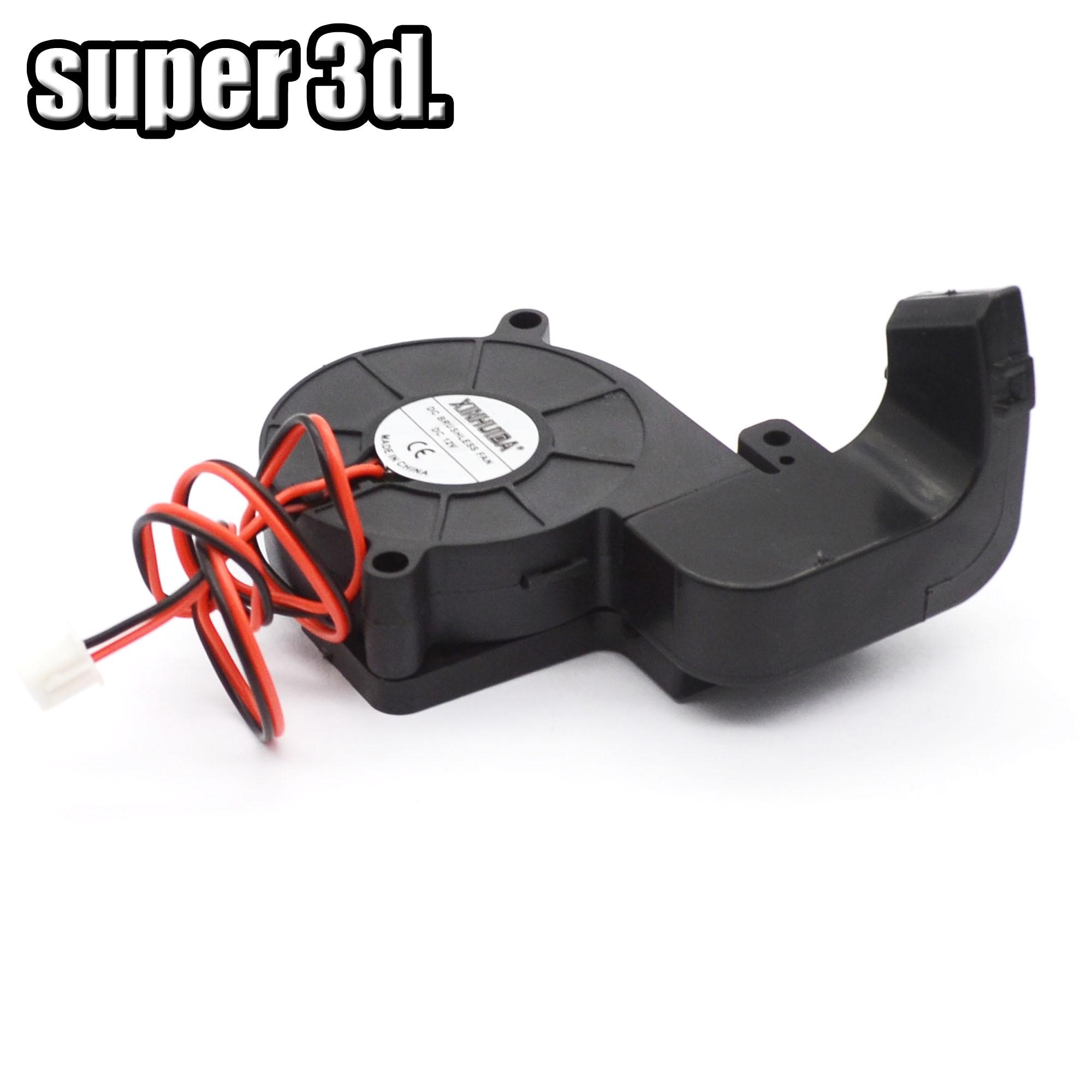 1 takım 5015 12 V/24 V fan turbo fan hava kılavuz kanalı montaj braketi seti ile 2pin kablo için 3D yazıcı MK10 parçaları