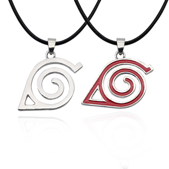 Hot Anime Naruto Necklace Kakashi Leaf Village Symbol Cosplay Pendant Necklaces Kakashi Konoha Ninja Jewelery Bijoux Collier image