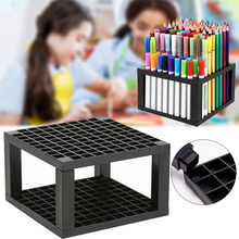 96 Holes Plastic Pencil Brush Holder Desk Stand Organizer Holder for Pens Paint Brushes Colored Pencils Markers Art Supply