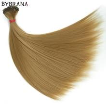 Bybrana 15 см* 100 см и 25 см* 100 см длинные прямые высокотемпературные волокна BJD SD парики DIY Волосы для кукол