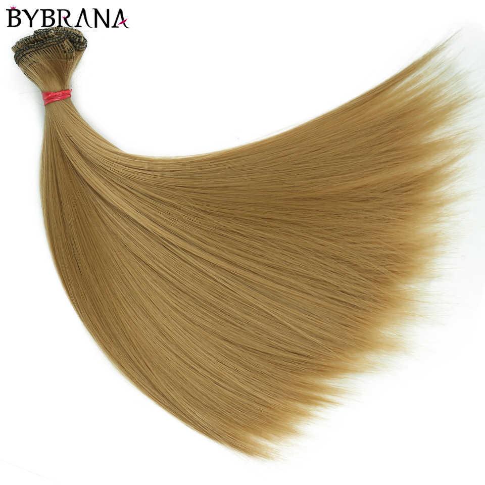 Bybrana, 15cm x 100cm y 25cm x 100cm, SD BJD pelucas de fibra de alta temperatura rectas y largas, pelo DIY para muñecas, envío gratis