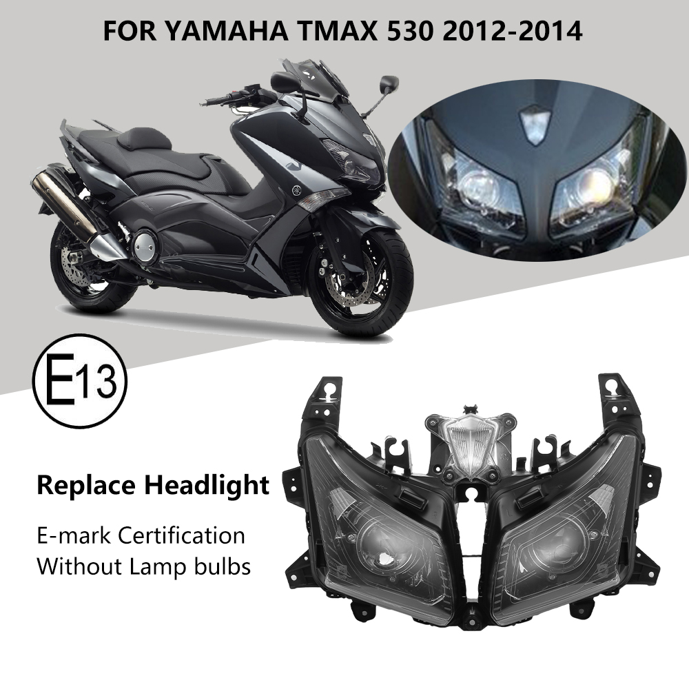 Image 2 - For Tmax530 Motorcycle HeadLight For Yamaha TMAX 530 Front Headlamp For T MAX530 2012 2013 2014 Assembly Lamp Head Light Replace