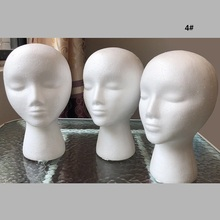 styrofoam Female Mannequin Head Wigs Glasses Cap Display Holder Stand Model Drop Shipping wig head model mannequin female foam long neck head model hair hat wig glasses stand display long neck female model head drop shipping