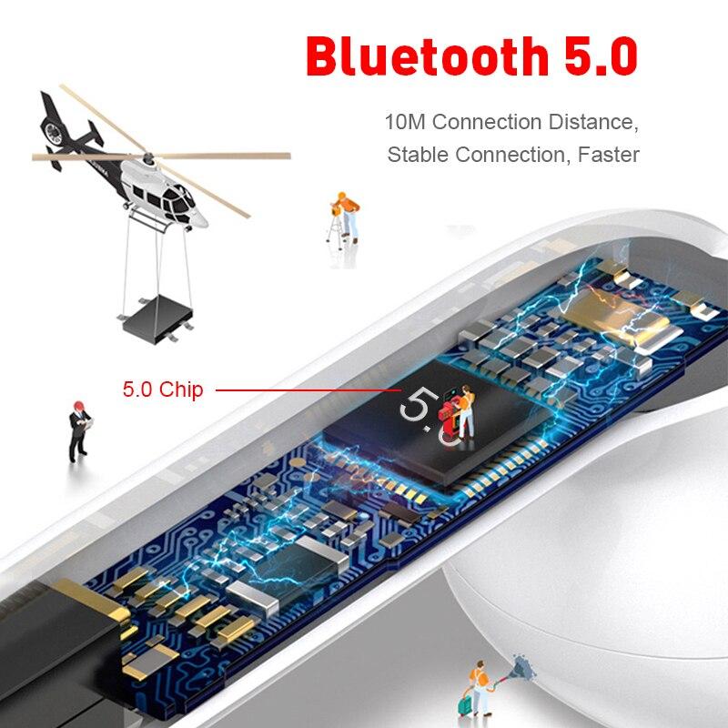 InPods 12 TWS Беспроводная гарнитура Bluetooth 5,0 Touch спортивные наушники стерео для iPhone Xiaomi Huawei Samsung Android смартфон