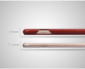 Image 5 - 100% אמיתי עור Flip כיסוי Case עבור Apple iPhone 6 6S 7 8 בתוספת SE 2020 יוקרה Fundas עם מתנה חינם מסך מגן