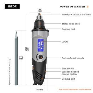 Image 3 - HILDA Mini Elektrische Bohrer Mit 6 Position Variable Speed Dremel 220V 400W Stil Dreh Werkzeuge Mini Schleifen Power werkzeuge