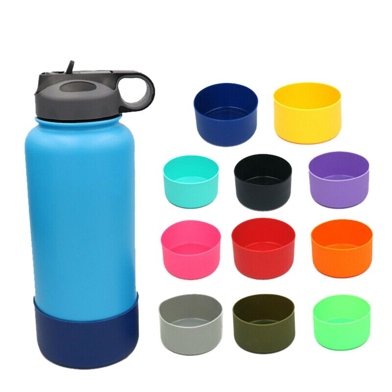 1 Pcs 12&24oz Slip-proof Silicone Boots Sleeves Fit For Hydro Flask Bottle Outdoor Coturno Bike Bottle Boot Cycling