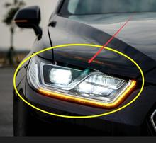 2 adet 2015 ~ 2017y araba tampon kafa ışık Taurus araba farı aksesuarları LED DRL HID xenon sis boğa far