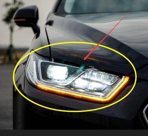 Image 1 - 2pcs 2015 ~ 2017y רכב bupmer ראש אור טאורוס פנס אביזרי רכב LED DRL HID קסנון ערפל עבור מזל שור פנס