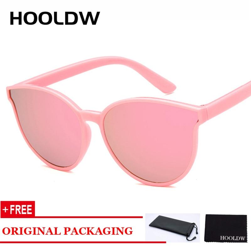 HOOLDW Vintage Cat Eye Kids Sunglasses Fashion Boys Girls Sun Glasses Cool Children Outdoors Travel Goggles Shades Eyewear UV400