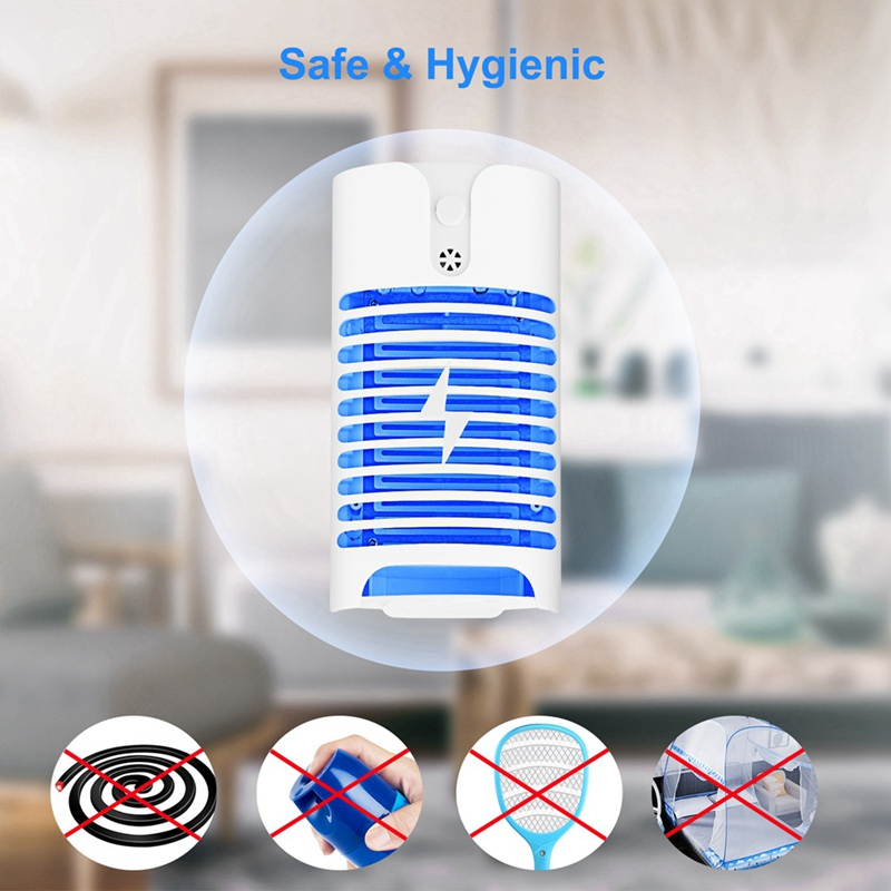 Mosquito Killer Lamps LED Socket Electric Mosquito Fly Bug Insect Trap Killer Zapper Night Lamp Lights|Repellents| |  - title=