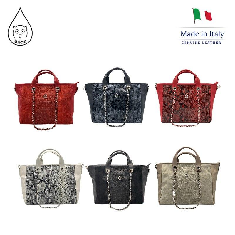JUICE ,made In Italy, Genuine Leather, Women Bag,Women Oversize Handbag 112805P