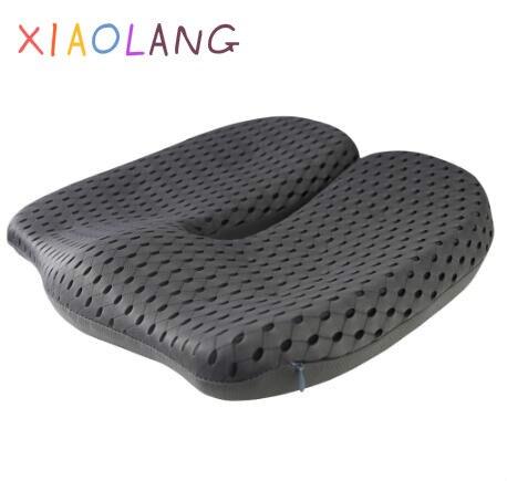 Almofada de assento de espuma de memória respirável para dor nas costas coccyx ortopédico cadeira de escritório do carro suporte de cadeira de rodas cócciatica alívio