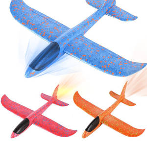 48cm Glider DIY Aircraft Foam Airplane Glider Foam Plane Toys Hand Throw Fly Model Airplane Model Outdoor Fun Toys For Children