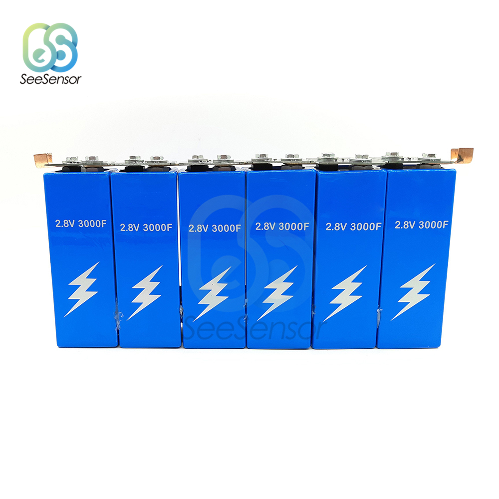 6pcs/set 2.8V 3000F Super Farad Capacitors Protection Board Low ESR High Frequency Ultracapacitor For Car Auto Power Supply
