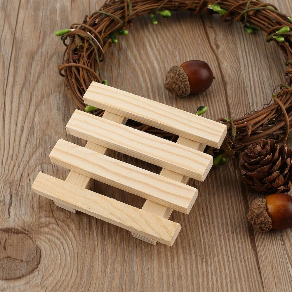 Tray-Holder Soap-Dish Support-Tray Shower-Plate Bath Wooden Storage Natural-Wood Wash-Soap