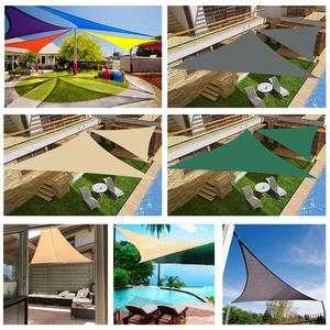 Image 5 - 2/3/3.6/5M Heavy Shade Sail Sun Canopy Cover Outdoor Trilateral Garden Yard Awnings Waterproof Car Sunshade Cloth Summer