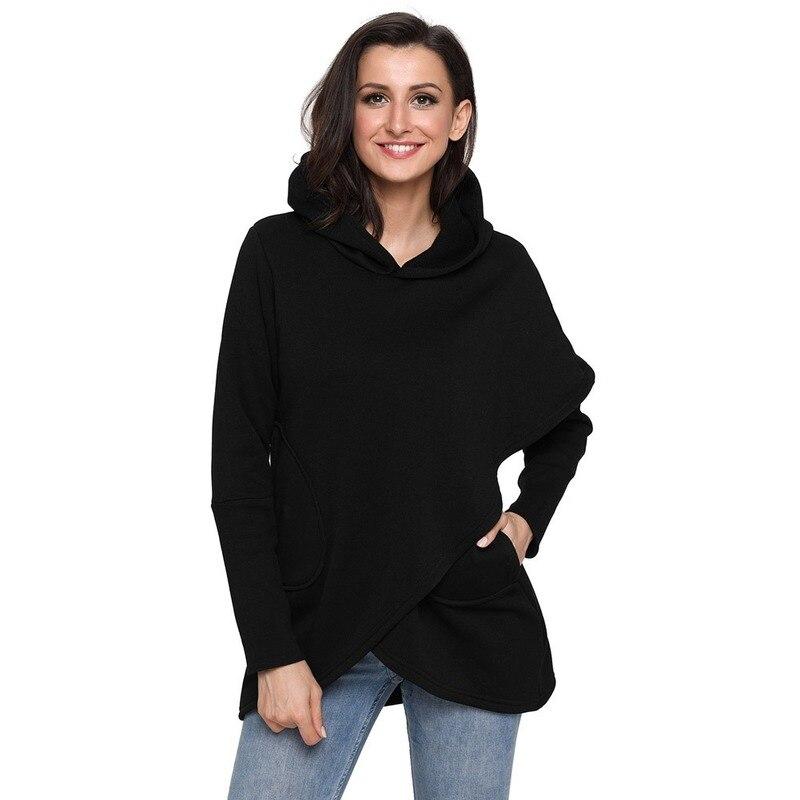 Robe à capuche femmes à manches longues hauts coréen Bts solide sweat à capuche Streetwear grande taille femmes Crop Hoodies Sweatshirts