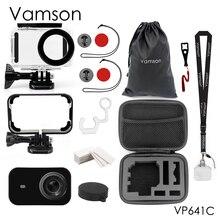 Vamson voor Xiaomi mijia 4k Duiken Waterdichte Case Bescherm Shell Camera Case 4K Action Camera Behuizing set Veiligheid touw VP641