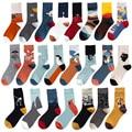 Instime Unisex Malerei Stil Baumwolle Bunte Kawaii Crew Socken Frauen 1 Paar Streetwear Skateboard Sport Radfahren Größe 36-44