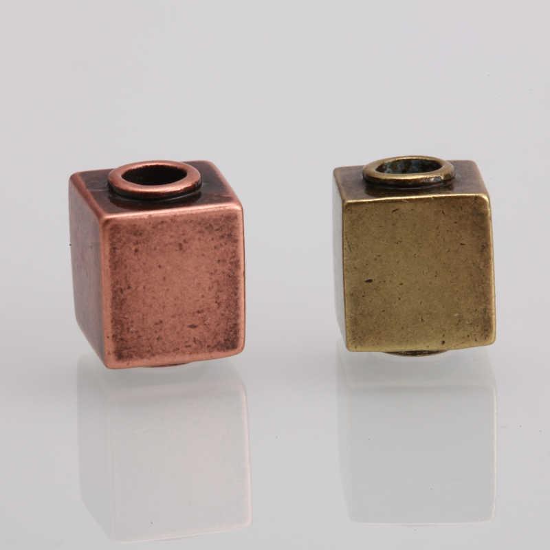 Spacer חרוזים עתיק חרוזים נירוסטה גיאומטרי עמוד עגול חרוזים ממצאי 2 3 4 6mm חור Diy חרוזים עבור תכשיטי ביצוע