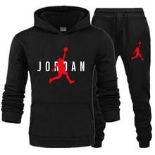 Novo conjunto de moletom com capuz masculino 23 faixa terno velo conjunto com capuz + jogging homme moletom