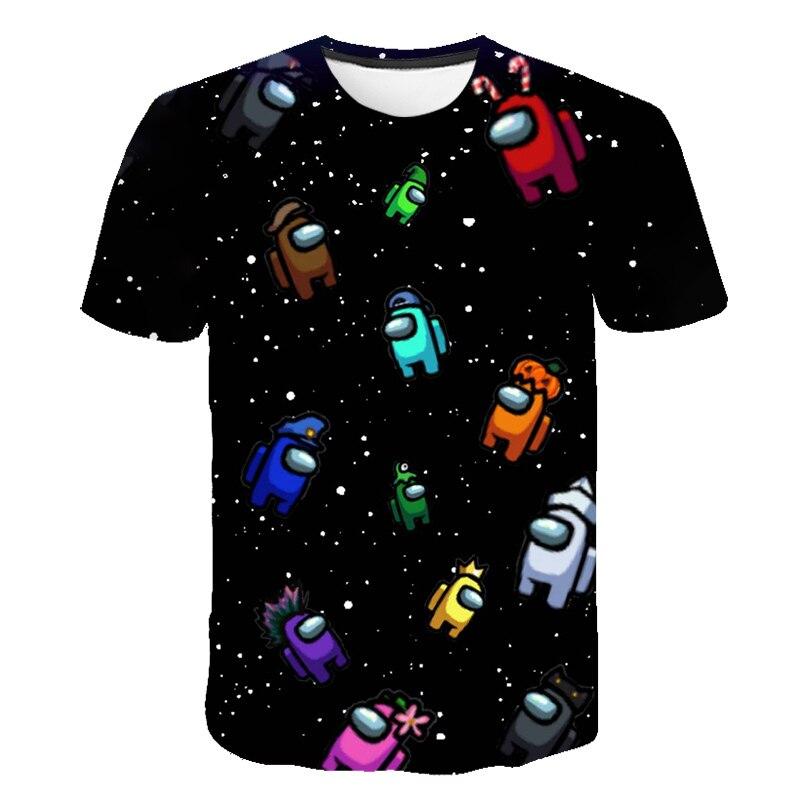 2021 novo popular engraçado 3dt camiseta hip hop camiseta de verão kawaii novo jogo ao longo dos eua das crianças dos desenhos um