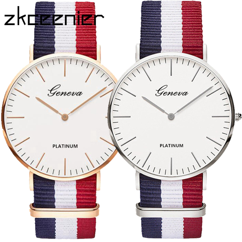 Hot Luxury Brand Nylon Fashion Women Bracelet Quartz Watch Men Ladies Wrist Watch Wristwatches Clock Relojes Mujer Relogio