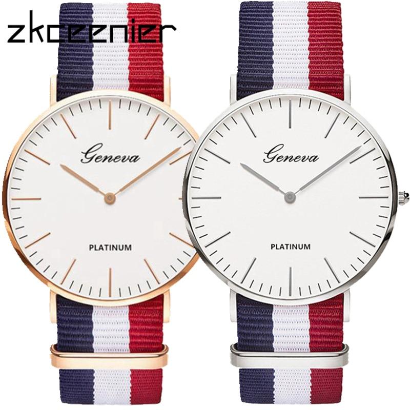 Hot Luxury Brand Nylon Fashion Women Bracelet Quartz Watch Men Ladies Wrist Watch Wristwatches Clock Relojes Mujer Relogio
