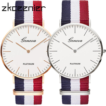 Fashion Women Clock Wristwatches Bracelet Mujer Ladies Luxury Brand Nylon Quartz Hot