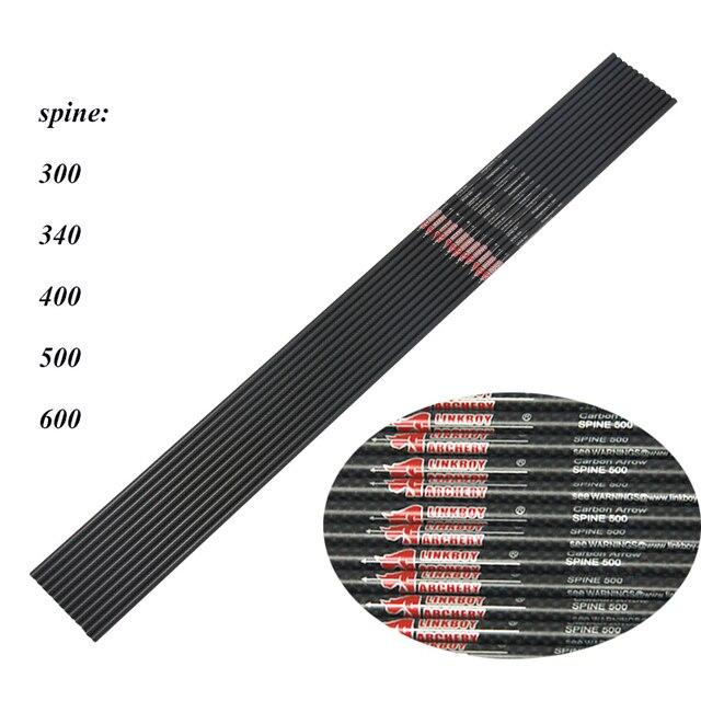 6/12pcs Linkboy Archery ID6.2mm Pure 100% 3K Carbon Arrows Shafts 32 4