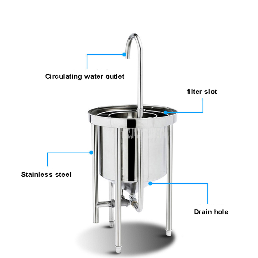 25kg Washing Capacity Automatic Stainless Steel Rice Washing Machine Commercial Large Water Pressure Rice Washer For Restaurant 10