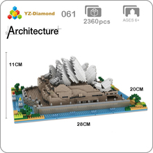 YZ 061 World Famous Architecture Sydney Opera House 3D Model Mini Diamond Building Small Blocks Bricks Toy for Children no Box
