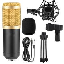 Microfone eletrônico gevo bm800, com fio, microfone de 3.5mm, capacitor de pesquisa, karaoquê portátil