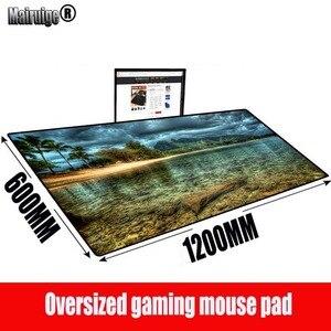 MRGBEST пальмовый пляжный Ландшафтный игровой большой коврик для мыши геймер большой компьютерный коврик для мыши офисный стол Клавиатура ков...