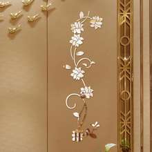 Flower Vine Decorative Wall Stickers Refrigerator Vinyl Window Cupboard Home Decorations Diy Living Room Decals Art Mural Poster(China)