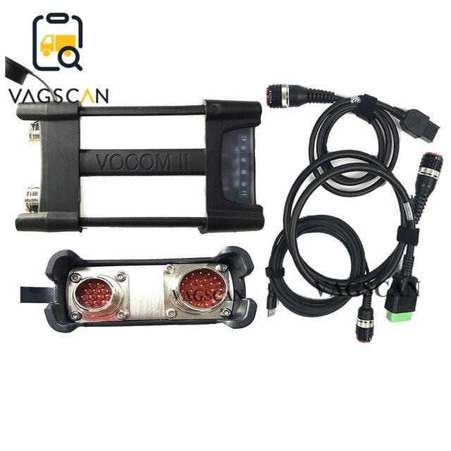 Vocom II 88894000 الاتصالات وحدة Vocom2 التكنولوجيا أداة (TT) V2.7 تشخيص كيت (88894000) ل حافلة معدات البناء