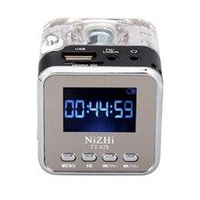 Altavoz Mini portátil para música, reproductor MP3/4, Micro SD/TF, USB, Radio FM, pantalla LCD, 20, novedad