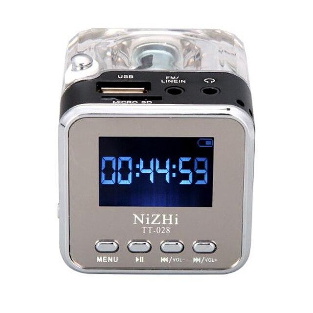 Mới Loa Mini Di Động Âm Nhạc Kỹ Thuật Số MP3/4 Cầu Thủ Micro SD/TF Đĩa USB Loa Đài FM LCD 20