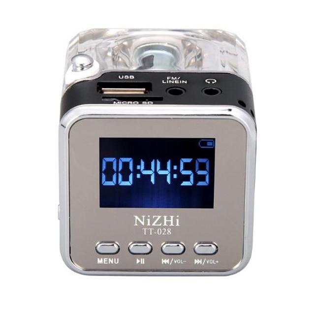 新ポータブルミニスピーカーデジタル音楽MP3/4プレーヤーマイクロsd/tf usbディスクスピーカーfmラジオlcdディスプレイ 20