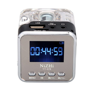 Image 1 - New Portable Mini Speaker Digital Music MP3/4 Player Micro SD/TF USB Disk Speaker FM Radio LCD Display 20