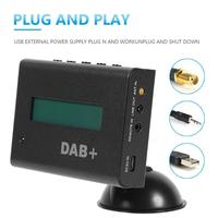 DAB DAB+ Car Radio Receiver FM Transmitter AUX out Digital Broadcasting Receiver Infrared Control Support LCD Panel Display